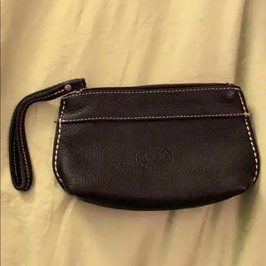 Authentic roots leather wristlet